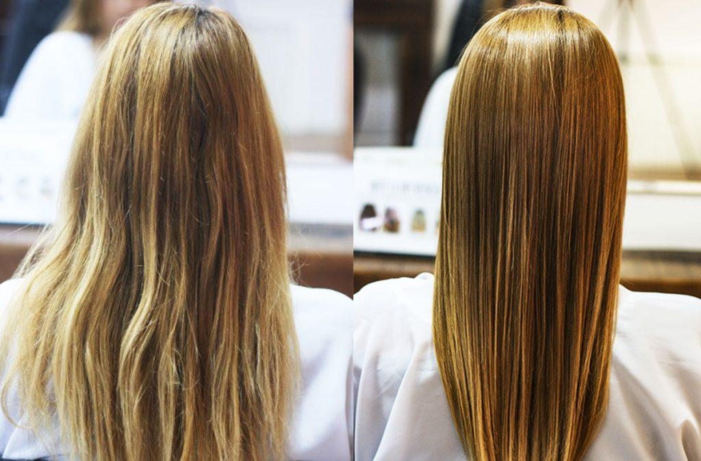 antes y despues de botox capilar