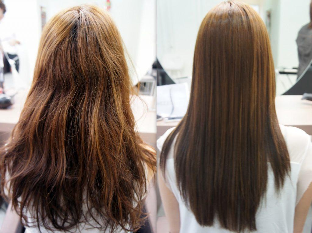 antes y despues de cabello tratado