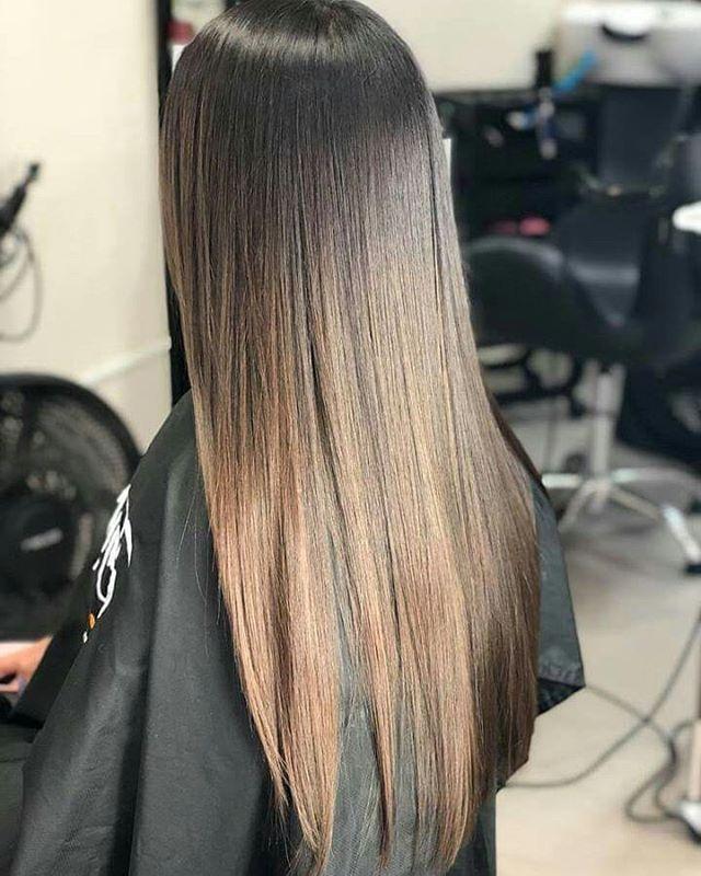 cabello lacio con botox