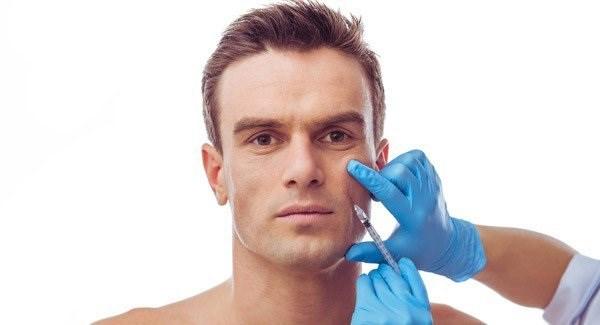 inyeccion de botox en hombre