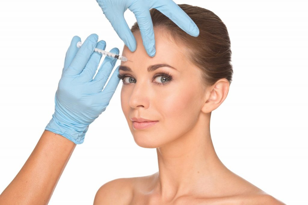 procedimiento de botox en entrecejo