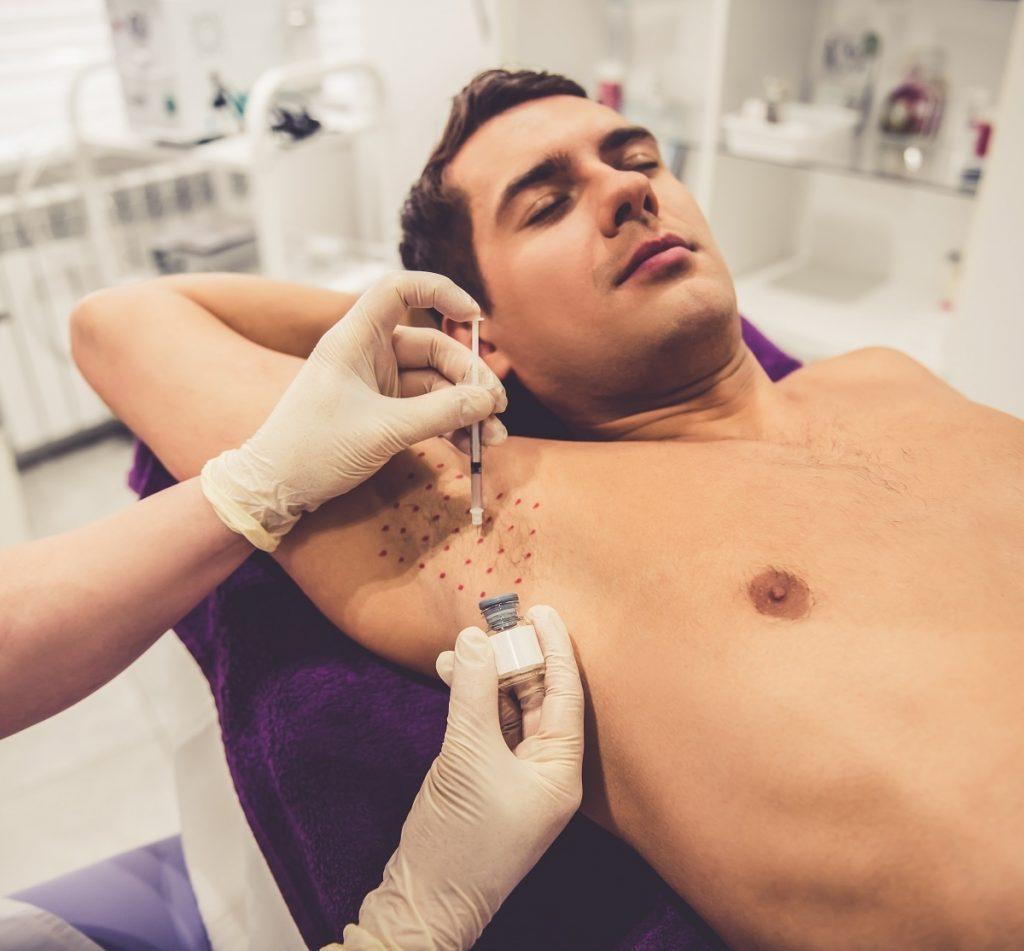 tratamiento de botox en axila
